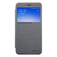 お買い得  携帯電話ケース-ケース 用途 Xiaomi Redmi 5A ウィンドウ付き フリップ つや消し フルボディーケース 純色 ハード PUレザー のために Redmi 5A