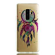 Недорогие Чехлы и кейсы для Galaxy S8-Кейс для Назначение SSamsung Galaxy S9 S9 Plus IMD Прозрачный С узором Сияние и блеск Кейс на заднюю панель Ловец снов Мягкий ТПУ для S9