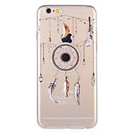 Недорогие Кейсы для iPhone 8 Plus-Кейс для Назначение Apple iPhone 8 / iPhone 7 С узором Кейс на заднюю панель  Перья Мягкий ТПУ для iPhone 8 Pluss / iPhone 8 / iPhone 7 Plus