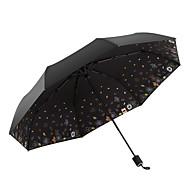 abordables Accesorios para la Lluvia-Tejido Todo Soleado y lluvioso / A prueba de Viento / nuevo Paraguas de Doblar