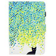 Недорогие Чехлы и кейсы для Samsung Tab-Кейс для Назначение SSamsung Galaxy Tab A 8.0 Бумажник для карт / со стендом / Флип Чехол Кот Твердый Кожа PU для Tab A 8.0