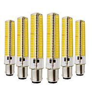 billige LED-lamper med G-sokkel-YWXLIGHT® 6stk 10W 2700-3200/6000-6500lm BA15d LED-lamper med G-sokkel T 136 LED Perler SMD 5730 Dæmpbar Dekorativ Varm hvid Kold hvid