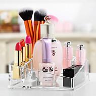 abordables Almacenamiento de escritorio-El plastico Rectángulo Nuevo diseño Casa Organización, 1pc Soportes / Almacenamiento de Maquillaje / Organizadores de Escritorio