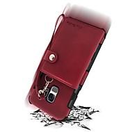 Недорогие Чехлы и кейсы для Galaxy S9-Кейс для Назначение SSamsung Galaxy S9 S9 Plus Бумажник для карт Кошелек Защита от удара Кейс на заднюю панель Сплошной цвет Твердый