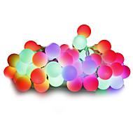 billige LED-kædelys-Lysslynger 100 lysdioder Varm hvid Hvid Multifarvet Lyserød Gul Blå Rød Dæmpbar 220V 110-130V