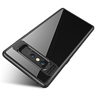 Недорогие Чехлы и кейсы для Galaxy Note-Кейс для Назначение SSamsung Galaxy Note 8 Защита от удара Полупрозрачный Кейс на заднюю панель Сплошной цвет Твердый ПК для Note 8