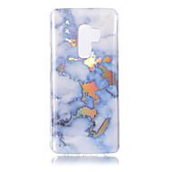 Недорогие Чехлы и кейсы для Galaxy S9 Plus-Кейс для Назначение SSamsung Galaxy S9 S9 Plus Покрытие IMD С узором Кейс на заднюю панель Мрамор Мягкий ТПУ для S9 Plus S9 S8 Plus S8 S7