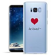 Недорогие Чехлы и кейсы для Galaxy S8-Кейс для Назначение SSamsung Galaxy S8 Plus S8 С узором Кейс на заднюю панель Слова / выражения С сердцем Мягкий ТПУ для S8 Plus S8 S7