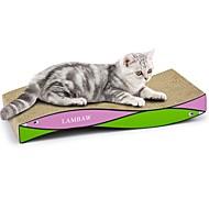 お買い得  ペット用品-ネコ 猫用おもちゃ ペット用おもちゃ スクラッチマット 多色 スクラッチマット 体重を減らす キャットニップ 段ボール紙 ペット用