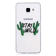 Недорогие Чехлы и кейсы для Galaxy A3(2017)-Кейс для Назначение SSamsung Galaxy A5(2017) A3(2017) Полупрозрачный С узором Кейс на заднюю панель Слова / выражения Мягкий ТПУ для A3