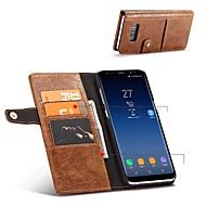 Недорогие Чехлы и кейсы для Galaxy S7 Edge-Кейс для Назначение SSamsung Galaxy S8 Plus S8 Бумажник для карт Кошелек Защита от удара со стендом Флип Чехол Сплошной цвет Твердый Кожа