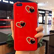 Недорогие Кейсы для iPhone 8 Plus-Кейс для Назначение Apple iPhone X iPhone 7 Plus С узором Кейс на заднюю панель С сердцем Мягкий Силикон для iPhone X iPhone 8 Pluss