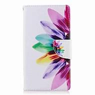 お買い得  携帯電話ケース-ケース 用途 Sony Xperia L2 Xperia XA2 Ultra カードホルダー ウォレット スタンド付き フリップ パターン フルボディーケース フラワー ハード PUレザー のために Xperia XA2 Xperia XA2 Ultra Xperia