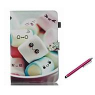 Недорогие Чехлы и кейсы для Galaxy Tab 4 7.0-Кейс для Назначение SSamsung Galaxy Tab A 8.0 (2017) Tab A 10.1 (2016) Бумажник для карт со стендом Флип Магнитный С узором Чехол