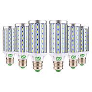 お買い得  LED コーン型電球-YWXLIGHT® 6本 25W 2000-2500lm E26 / E27 LEDコーン型電球 T 72 LEDビーズ SMD 5730 装飾用 温白色 クールホワイト 85-265V