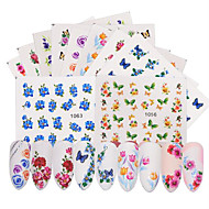 cheap Makeup & Nail Care-50 pcs Flower / Nail Decals Stickers & Tapes / Water Transfer Sticker / Nail Sticker DIY / Nail Art Design