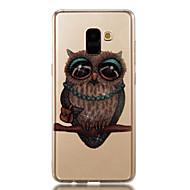 Недорогие Чехлы и кейсы для Galaxy A3(2017)-Кейс для Назначение SSamsung Galaxy A8 2018 A8 Plus 2018 IMD С узором Кейс на заднюю панель Сияние и блеск Сова Мягкий ТПУ для A3 (2017)
