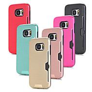 Недорогие Чехлы и кейсы для Galaxy S7 Edge-Кейс для Назначение SSamsung Galaxy S7 edge S7 Бумажник для карт Защита от удара Кейс на заднюю панель Сплошной цвет Твердый ПК для S7