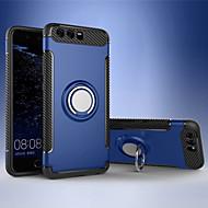 Недорогие Чехлы и кейсы для Huawei Honor-Кейс для Назначение Huawei Mate 9 Honor V9 Play Защита от удара Кольца-держатели Кейс на заднюю панель Сплошной цвет Твердый ТПУ для