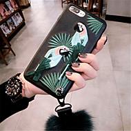 Недорогие Кейсы для iPhone 8 Plus-Кейс для Назначение Apple iPhone X iPhone 7 Plus С узором Кейс на заднюю панель 3D в мультяшном стиле Мягкий ТПУ для iPhone X iPhone 8