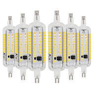 お買い得  LED コーン型電球-ywxlight®6pcs r7s 6w 78mm ledトウモロコシライト2835smd暖かい白いクールな白いled電球led投光器ac 220-240 ac 110-130 v