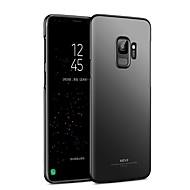 olcso Galaxy S7 Edge tokok-Case Kompatibilitás Samsung Galaxy S9 S9 Plus Ultra-vékeny Fekete tok Tömör szín Kemény PC mert S9 Plus S9 S8 Plus S8 S7 edge S7 S6 edge