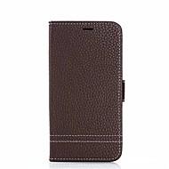 Недорогие Чехлы и кейсы для Galaxy Note-Кейс для Назначение SSamsung Galaxy Note 8 Бумажник для карт со стендом Чехол Сплошной цвет Твердый Настоящая кожа для Note 8