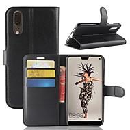 preiswerte Handyhüllen-Hülle Für Huawei P20 lite P20 Kreditkartenfächer Geldbeutel Flipbare Hülle Magnetisch Ganzkörper-Gehäuse Solide Hart PU-Leder für Huawei