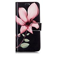 Недорогие Чехлы и кейсы для Galaxy S7-Кейс для Назначение SSamsung Galaxy S8 Plus S8 Бумажник для карт Кошелек со стендом Флип С узором Чехол Цветы Твердый Кожа PU для S8 Plus