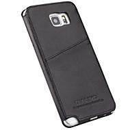 Недорогие Чехлы и кейсы для Galaxy Note-Кейс для Назначение SSamsung Galaxy Note 9 Note 5 Бумажник для карт Защита от удара Кейс на заднюю панель Сплошной цвет Твердый Настоящая