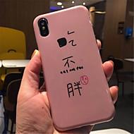 Недорогие Кейсы для iPhone 8-Кейс для Назначение Apple iPhone X iPhone 7 Plus С узором Кейс на заднюю панель Слова / выражения Мягкий ТПУ для iPhone X iPhone 8 Pluss