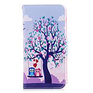 Недорогие Чехлы и кейсы для Galaxy A3(2017)-Кейс для Назначение SSamsung Galaxy A8 2018 A8 Plus 2018 Бумажник для карт Кошелек со стендом Флип С узором Чехол дерево Сова Твердый