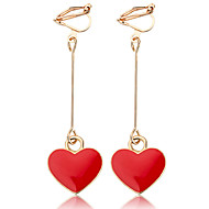 Women's Synthetic Tanzanite Drop Earrings Resin Earrings Heart Sweet Fashion Jewelry Black / Red For Party / Evening Going out