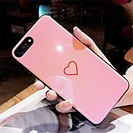 Кейс для Назначение Apple iPhone X iPhone 7 Plus С узором Кейс на заднюю панель С сердцем Мягкий ТПУ для iPhone X iPhone 8 Pluss iPhone 8