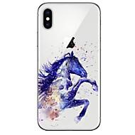 Coque Pour Apple iPhone X / iPhone 8 Ultrafine / Transparente / Motif Coque Animal Flexible TPU pour iPhone X / iPhone 8 Plus / iPhone 8
