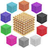 cheap Novelty Toys-Magnet Toy Neodymium Magnet Magnetic Balls Buckyballs 216pcs 3mm Magnet Metal Magnetic Sphere Cylindrical Unisex Toy Adults' Gift