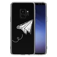 Недорогие Чехлы и кейсы для Galaxy S8 Plus-Кейс для Назначение SSamsung Galaxy S9 S9 Plus Прозрачный С узором Кейс на заднюю панель Геометрический рисунок Мягкий ТПУ для S9 Plus S9