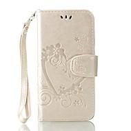 preiswerte Handyhüllen-Hülle Für Huawei Y5 II / Honor 5 Kreditkartenfächer Geldbeutel mit Halterung Flipbare Hülle Geprägt Ganzkörper-Gehäuse Volltonfarbe