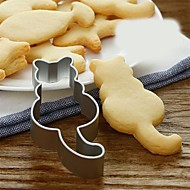 お買い得  キッチン&ダイニング-1ピース猫型クッキーカッター金型食品グレードステンレス鋼ビスケット金型