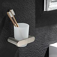 お買い得  -1個 高品質 伝統風 ステンレス鋼 歯ブラシホルダー 壁式