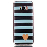 Недорогие Чехлы и кейсы для Galaxy S8 Plus-Кейс для Назначение SSamsung Galaxy S8 Plus / S8 С узором Кейс на заднюю панель С сердцем Мягкий ТПУ для S8 Plus / S8 / S7 edge