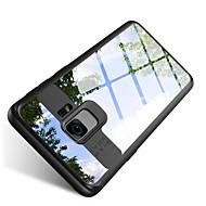 Недорогие Чехлы и кейсы для Galaxy S-Кейс для Назначение SSamsung Galaxy S9 S9 Plus Защита от удара Полупрозрачный Кейс на заднюю панель Сплошной цвет Твердый ПК для S9 Plus
