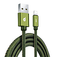 cheap -Lightning USB Cable Adapter Quick Charge High Speed Cable For Macbook iPad iPhone MacBook Air MacBook Pro 120 cm Textile
