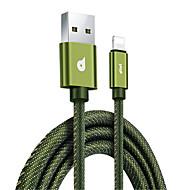 preiswerte iPhone Kabel & Adapter-Beleuchtung USB-Kabeladapter Schnelle Aufladung High-Speed Kabel Für MacBook iPad iPhone MacBook Air MacBook Pro 120 cm Textil