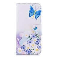 Недорогие Чехлы и кейсы для Galaxy S8 Plus-Кейс для Назначение SSamsung Galaxy S9 S9 Plus Бумажник для карт Кошелек со стендом Флип С узором Чехол Бабочка Цветы Твердый Кожа PU для