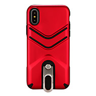 Недорогие Кейсы для iPhone 8 Plus-Кейс для Назначение Apple iPhone X iPhone 8 Защита от удара со стендом Кейс на заднюю панель Сплошной цвет Твердый ПК для iPhone X iPhone