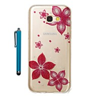 cheap Samsung Accessories-Case For Samsung Galaxy A5(2017) A3(2017) IMD Pattern Glitter Shine Back Cover Flower Soft TPU for A3(2017) A5(2017)