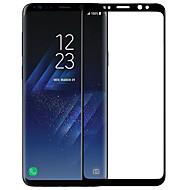 お買い得  Samsung 用スクリーンプロテクター-スクリーンプロテクター Samsung Galaxy のために S9 強化ガラス 1枚 フルボディプロテクター 3Dラウンドカットエッジ アンチグレア 指紋防止 傷防止 防爆 硬度9H ハイディフィニション(HD)