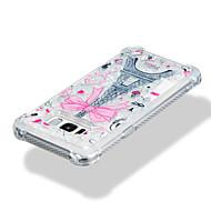 Недорогие Чехлы и кейсы для Galaxy S8-Кейс для Назначение SSamsung Galaxy S8 Plus S8 Защита от удара Движущаяся жидкость С узором Кейс на заднюю панель Сияние и блеск Эйфелева