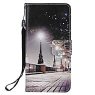 Недорогие Чехлы и кейсы для Galaxy S-Кейс для Назначение SSamsung Galaxy S9 S9 Plus Бумажник для карт Кошелек со стендом Флип Магнитный Чехол Вид на город Твердый Кожа PU для